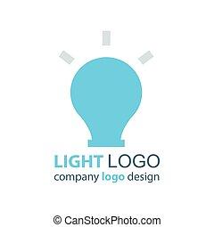 lumière bleue, vecteur, conception, logo