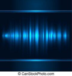 lumière bleue, vecteur, vertical, arrière-plan.