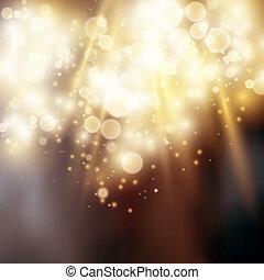 lumière, bokeh, fond