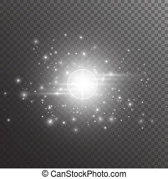 lumière, bokeh, rayons, fond