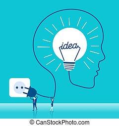lumière, businesspeople, ampoule
