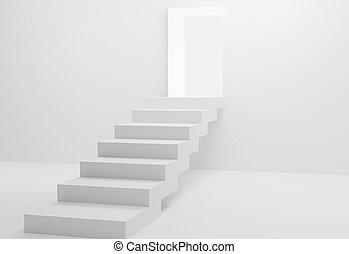lumière, clair, 3d-illustration, étapes