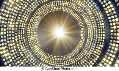lumière, clignotant, ampoules, boucle, fête