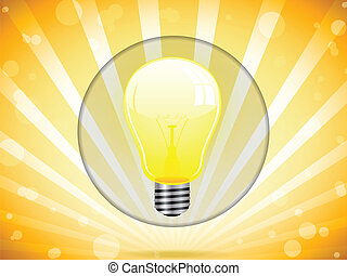 lumière, coloré, fond, ampoule
