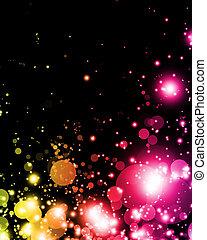 lumière colorée, résumé, nuances, vibrant, exciter