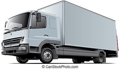 lumière, commercial, camion