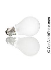 lumière, compagnon, isolé, ampoule