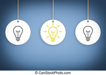 lumière, concepts, idée, ampoules