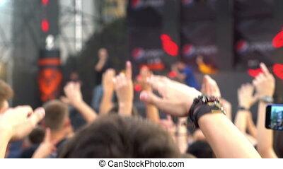 lumière, concert, foule