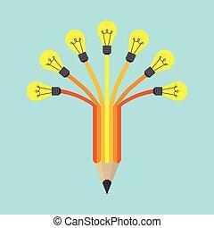 lumière, crayon coloré
