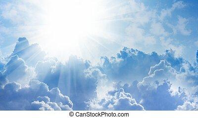 lumière, depuis, ciel
