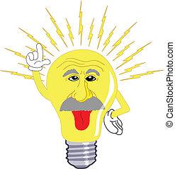 lumière, einstein, ampoule