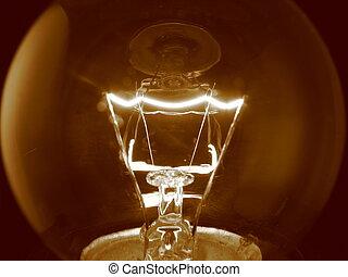 lumière, filament, ampoule