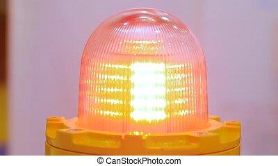 lumière, fin, lampe, industriel, clignotant, avertissement, reveil, machinerie, haut, signal