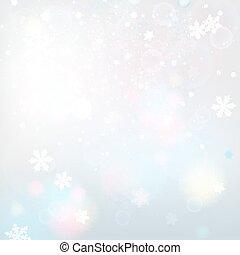 lumière, flocons neige, fond