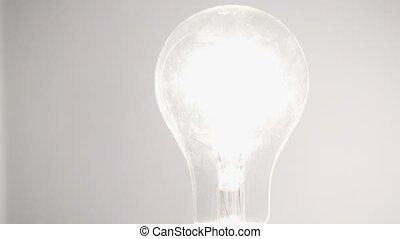 lumière, fond blanc, ampoule
