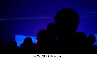 lumière, foule, coloré, gens