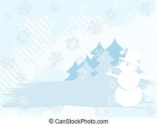 lumière hiver, couleurs, fond, grungy, horizontal