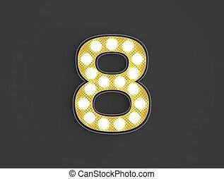 lumière, huit, nombre, vendange