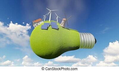 lumière, idée, bulb., énergie alternative