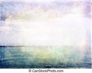 lumière, image, mer, grunge, ciel