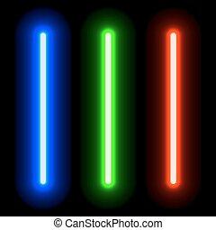 lumière, incandescent, épées, eps10