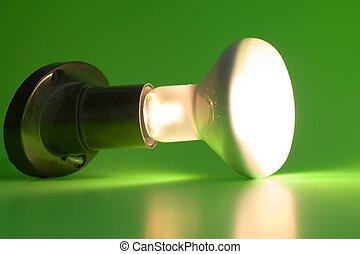 lumière, incandescent, ampoule
