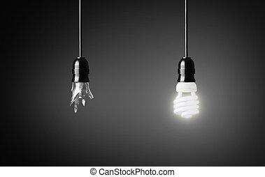 lumière, incandescent, bulb.