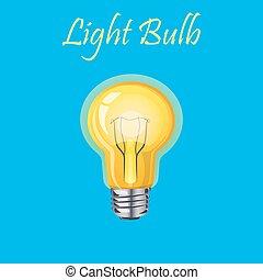 lumière, incandescent, jaune, ampoule