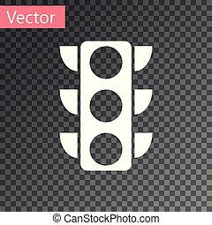 lumière, isolé, illustration, arrière-plan., vecteur, trafic, blanc, transparent, icône