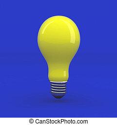lumière, jaune, ampoule