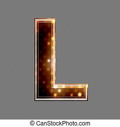 lumière, l, texture, incandescent, lettre, noël