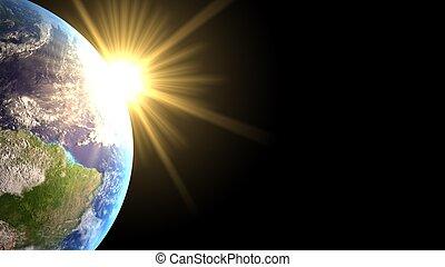 lumière, la terre