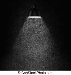 lumière, lampe, enduisage