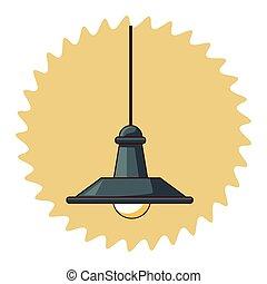 lumière, lampe, toit