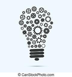 lumière, mécanique, ampoule