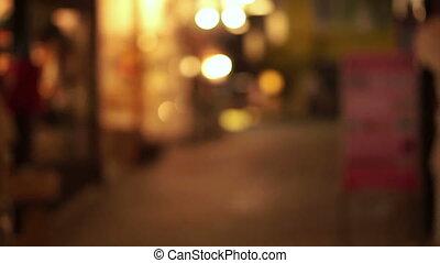 lumière, magasins, ruelle, asie, barbouillage