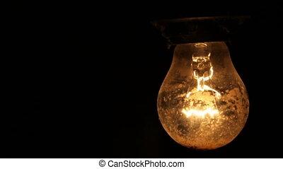 lumière, noir, électrique, fond, ampoule