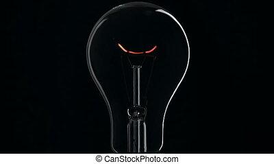 lumière, noir, ampoule, arrière-plan.