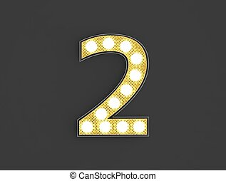 lumière, nombre, vendange, deux