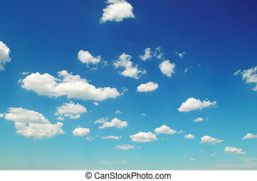 lumière, nuages, dans, les, bleu, sky.