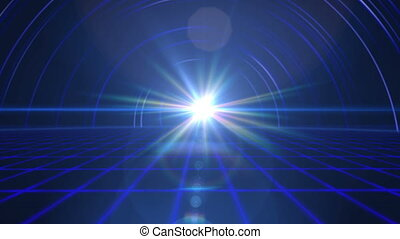 lumière, plancher, rayon, avenir, 4k, tunnel