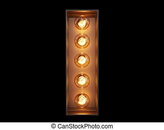lumière, police, caractère, ampoule, alphabet