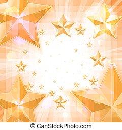 lumière, résumé, étoiles, or, fond