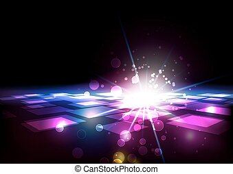 lumière, résumé, carrés, fond