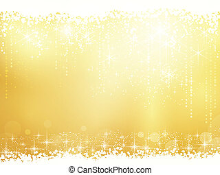 lumière, résumé, chute neige, étoiles, effets, fond