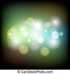 lumière, résumé, coloré, bokeh, fond