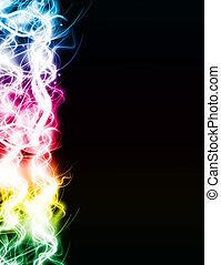 lumière, résumé, coloré, fond