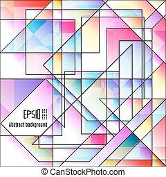 lumière, résumé, colorfull, géométrique, arrière-plan.