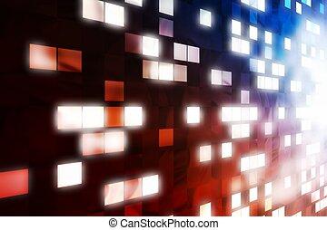 lumière, résumé, fenêtre, formulaire